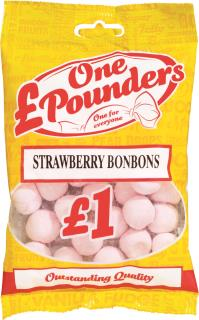 £One Pounders Strawberry Bonbons