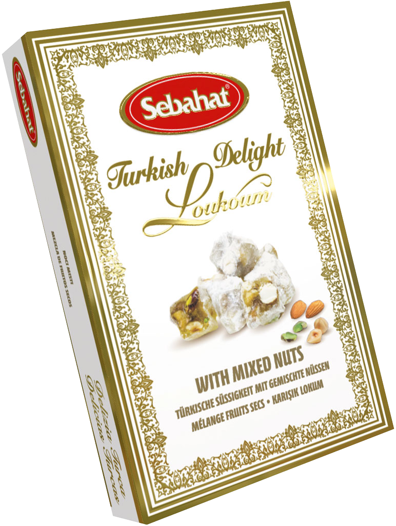 Sebahat Turkish Delight - Mixed nuts: Pistachio, Almond, Hazelnut