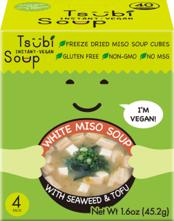 Tsubi Soup - White Miso with Aosa Seaweed and Tofu